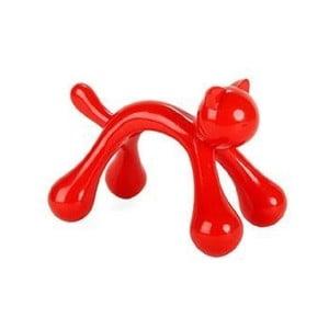 Červené masážítko Kikkerland Cat