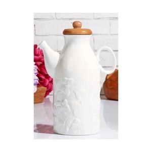 Porcelánová konvička s bambusovým víčkem Kutahya Brianne