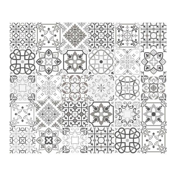 Sada 30 nástěnných samolepek Ambiance Cement Tiles Shade of Gray Bari, 10 x 10 cm