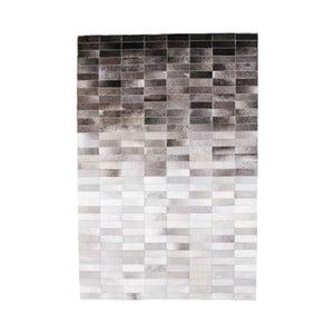 Šedý koberec z hovězí kůže Arctic Fur Patchwork Rug Nordic Day, 180 x 120 cm