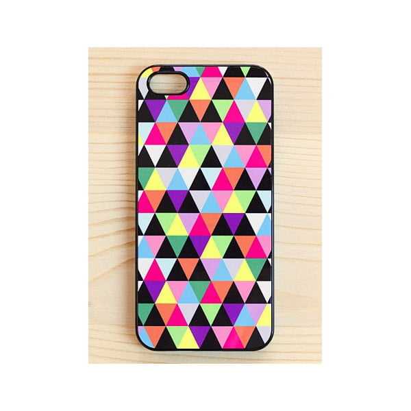 Obal na Samsung Galaxy S4, Joyful Multicolored Triangle/black