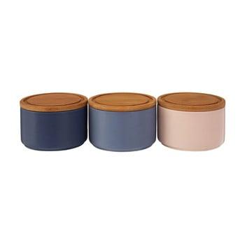 Set 3 boluri din ceramică cu capac din bambus Premier Housewares, 4,5 dl de la Premier Housewares