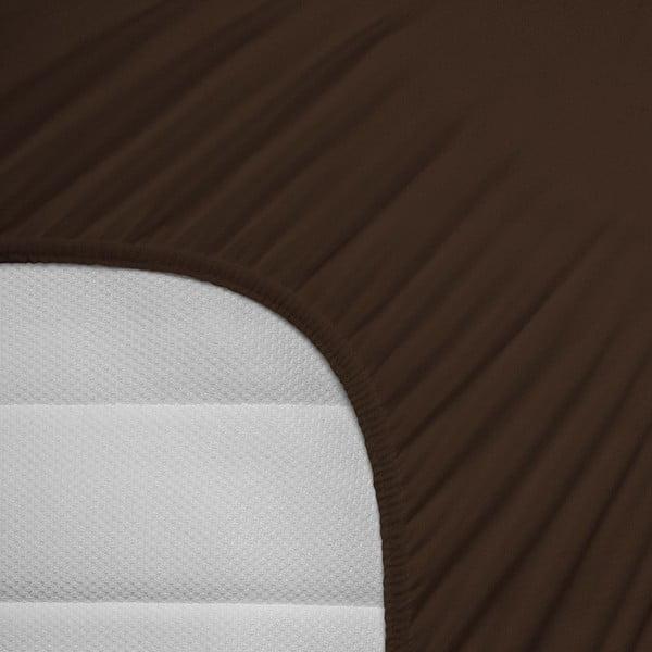 Elastické prostěradlo Hoeslaken 140x200 cm, tmavě hnědé