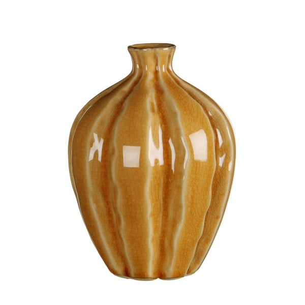 Keramická váza Marlena Ochre, 15x11 cm