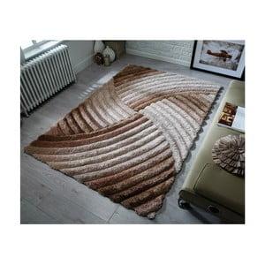 Hnědošedý koberec Flair Rugs Furrow Natural, 160 x 230 cm