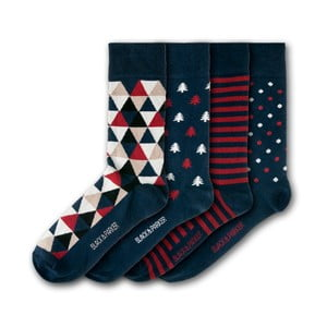 Sada 4 ponožek Black&Parker London Castle Drogo, velikost 37 – 43
