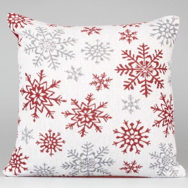 Bielo-červená obliečka na vankúš Dakls Winter