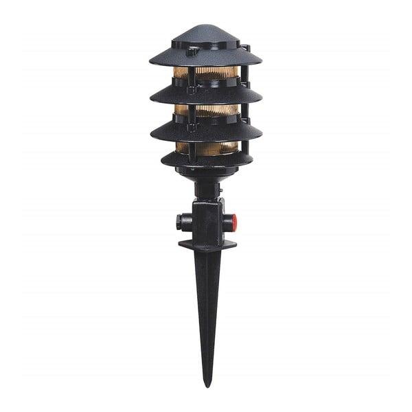 Černé zahradní svítidlo Gloss