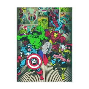 Obraz Pyramid International Marvel Comics Here Come The Heroes, 60 x 80 cm