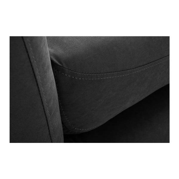 Canapea pentru 3 persoane Scandi by Stella Cadente Maison, negru