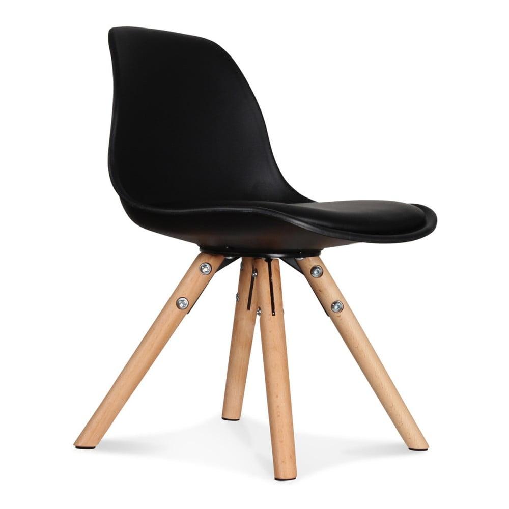 Sada 2 černých židlí Opjet Paris Scandinave Chaise