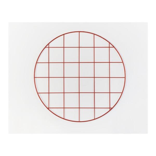 Červená drôtená nástenka Really Nice Things Circle Rojo, ⌀ 59 cm