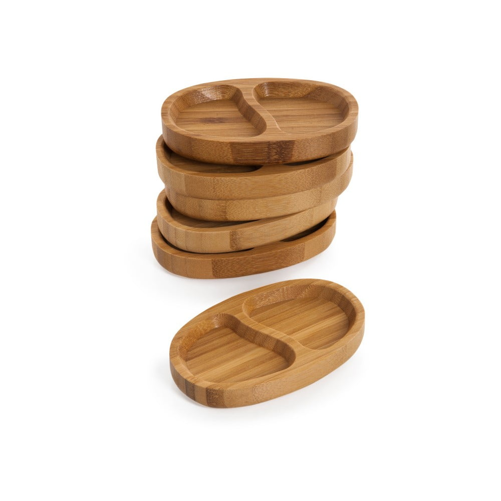 Sada 6 bambusových servírovacích misek Bambum Tobi