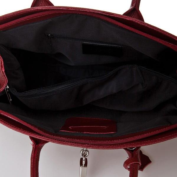 Červená kožená kabelka Giorgio Costa Perugia