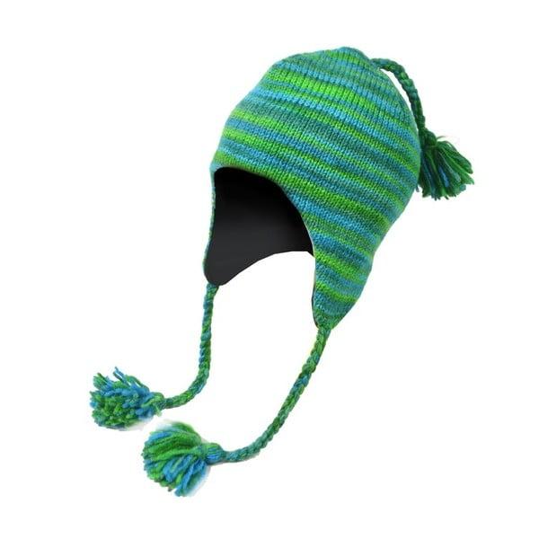 Vlněná čepice s ušima Spacedye Tyrkys