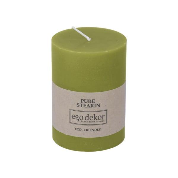 Zelená svíčka Baltic Candles Eco, výška 10cm