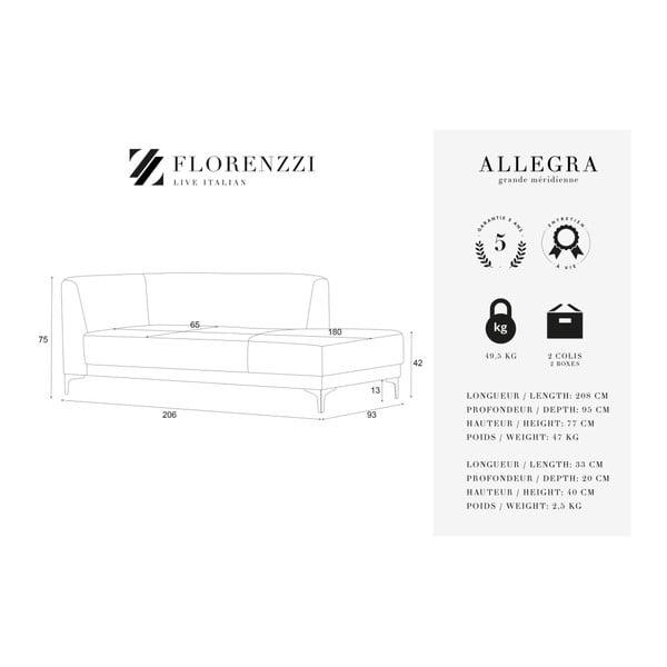 Krémově bílá lenoška Florenzzi Allegra, pravástrana