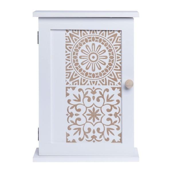 Nástěnná dřevěná skříňka na klíče Ewax Mekla