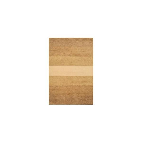 Vlněný koberec Baku Stripe Beige, 140x200 cm