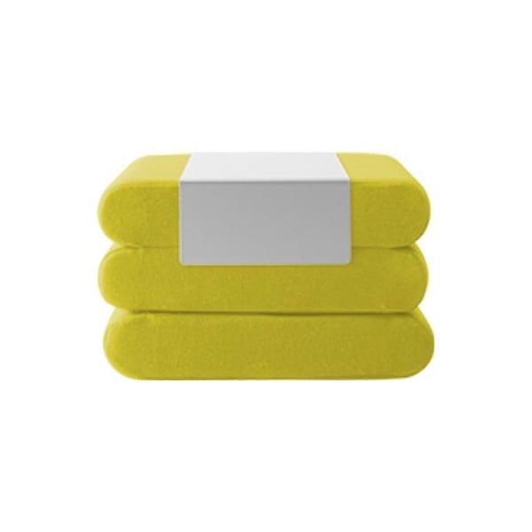 Žlutý rozkládací puf Softline Bingo Felt Melange Yellow