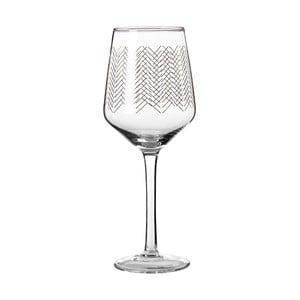 Set 4 pahare pentru vin Premier Housewares Gold Waves, 4,3 dl