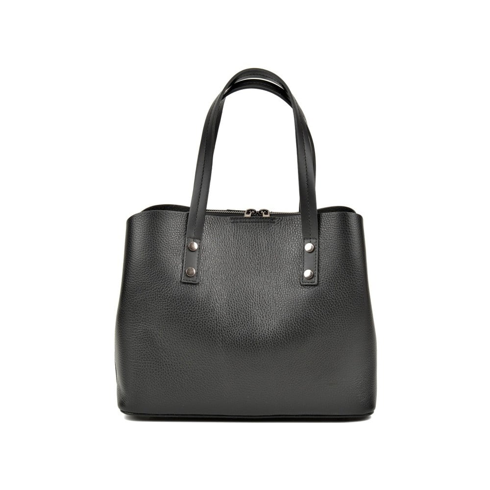 809f242a44 Černá kožená kabelka Anna Luchini Dita Nero