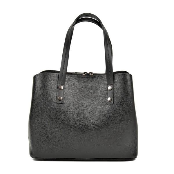 Černá kožená kabelka Anna Luchini Dita Nero