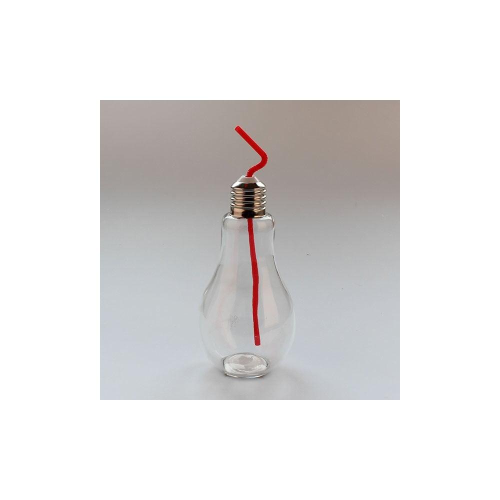 Sklenice s červeným brčkem Dakls, 850ml