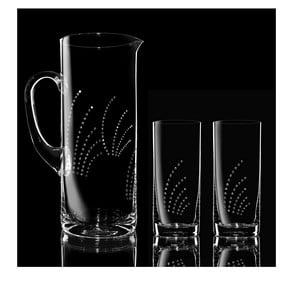 Set 1 carafă cu 2 pahare Flapper Swarovski Elements în ambalaj luxos