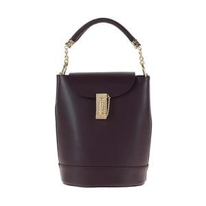 Tmavě vínová kožená kabelka / batoh Tina Panicucci Slimo