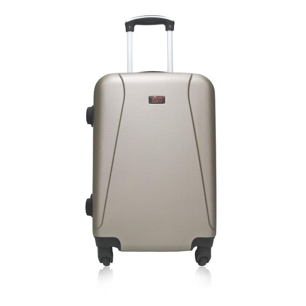 Béžový cestovní kufr na kolečkách Hero Tour, 91 l