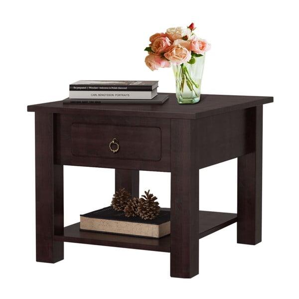 Tmavě hnědý konferenční stolek z borovicového dřeva Støraa Klein