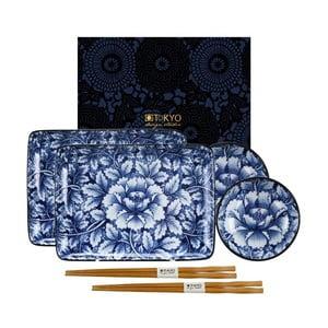 Bílo-modrý set na sushi Tokyo Design Studio