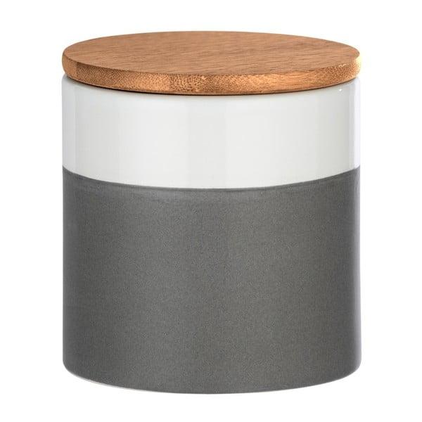Ceramiczny pojemnik z bambusową pokrywką Wenko Malta, 450 ml