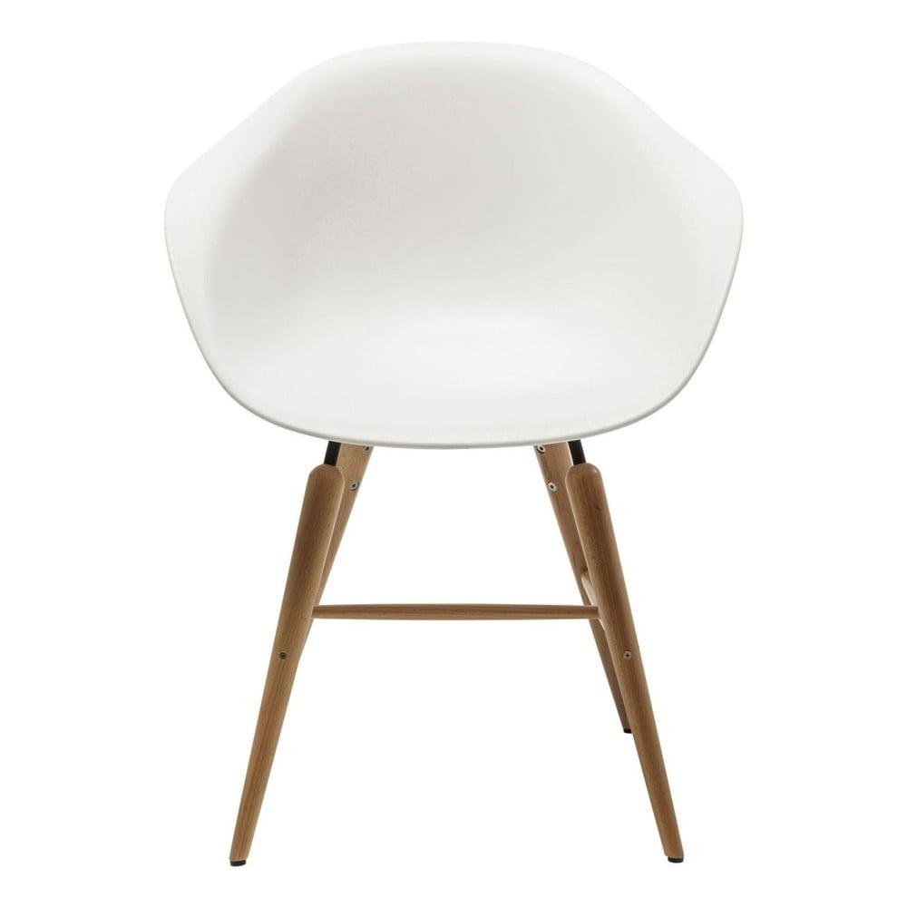 Bílá židle s područkami Kare Design Forum