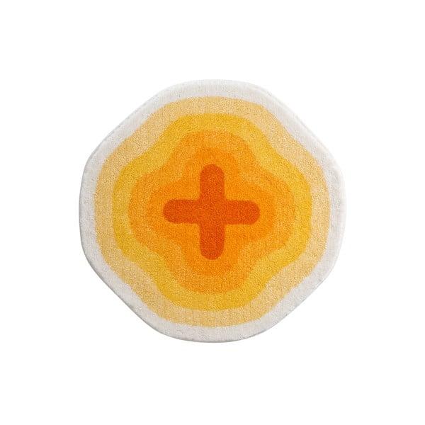 Koupelnová předložka Kolor My World III 60 cm, žlutá