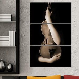 3dílný obraz Splynutí s hudbou