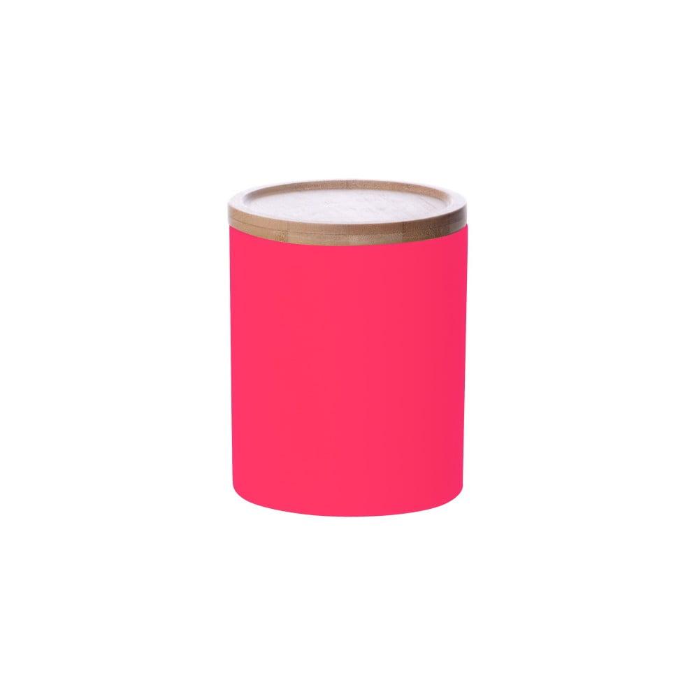 Růžová dóza Karlsson Silk Neon Medium
