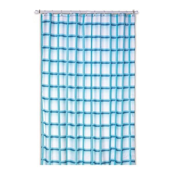 Sprchový závěs Lamara, tyrkysový, 180x200 cm