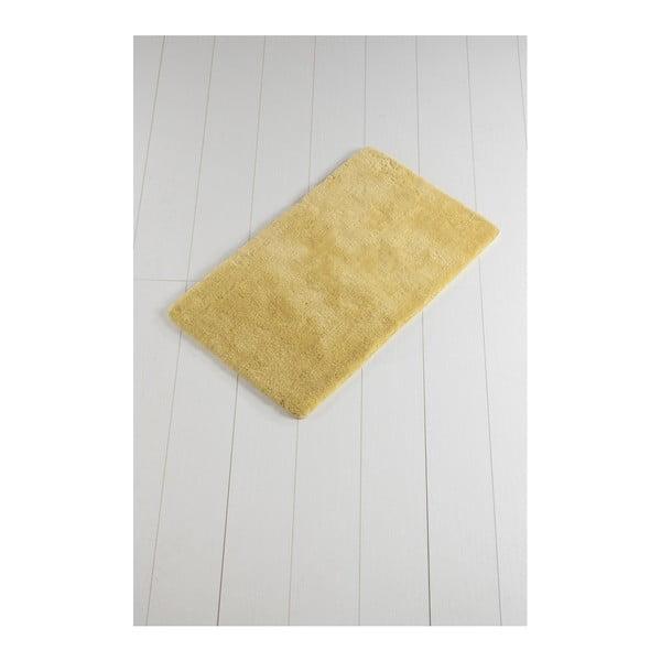 Żółty dywanik łazienkowy Minto Duratto, 100x60 cm