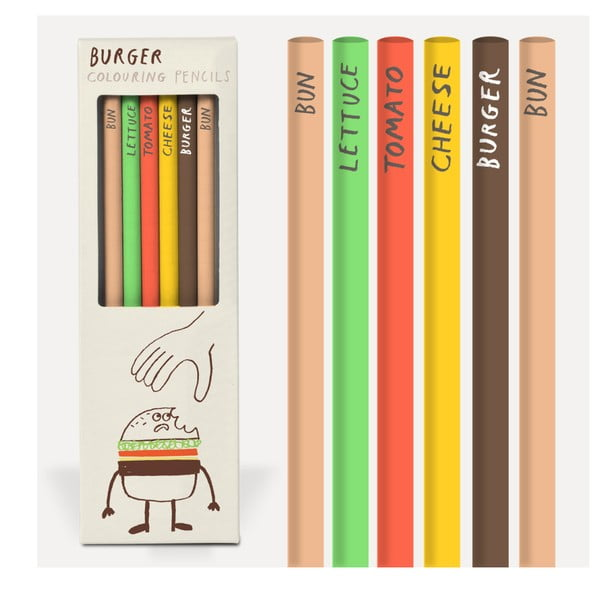 Set 6 creioane U Studio Design Burger