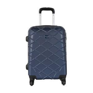 Modré kabinové zavazadlo na kolečkách Travel World