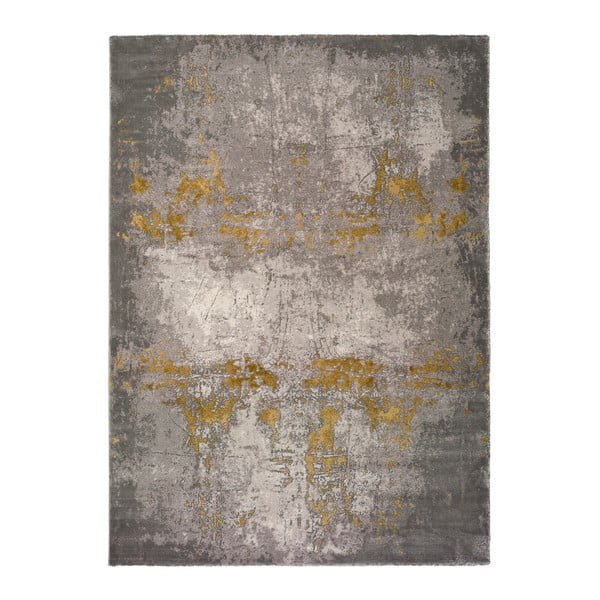 Šedý koberec Universal Mesina Mustard, 140x200cm