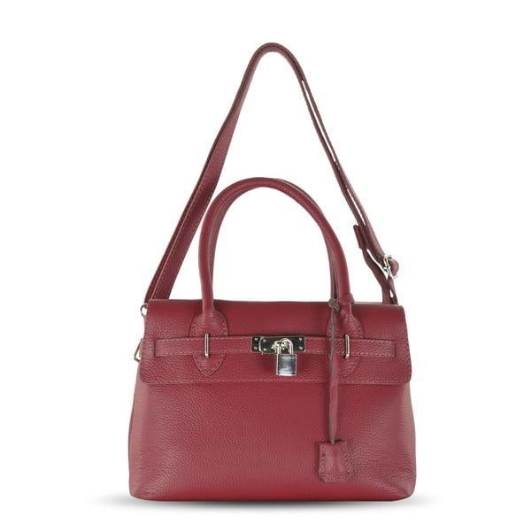 Kožená kabelka Jen, červená