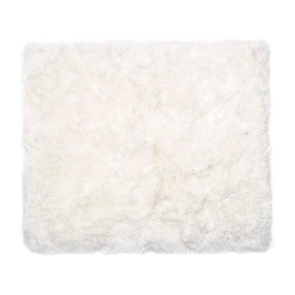 Bílý koberec z ovčí kožešiny Royal Dream Zealand Sheep, 130x150cm