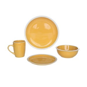 Sada nádobí Inca Yellow, 16 ks