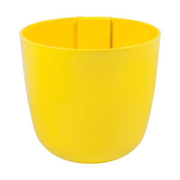 Magnetický květináč Bowl 16x14x16 cm, žlutý