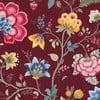 Tapeta Pip Studio Floral Fantasy, 0,52x10 m, vínová