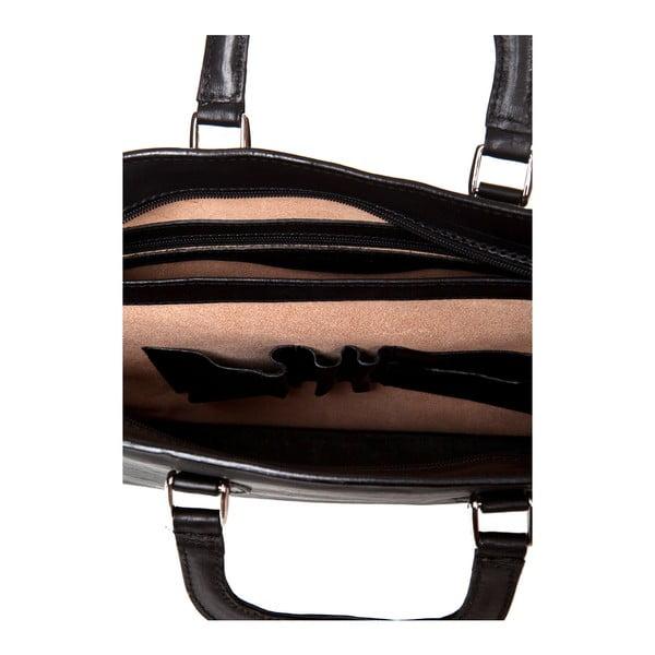 Černá taška ztelecí kůže Medici of Florence Bicci