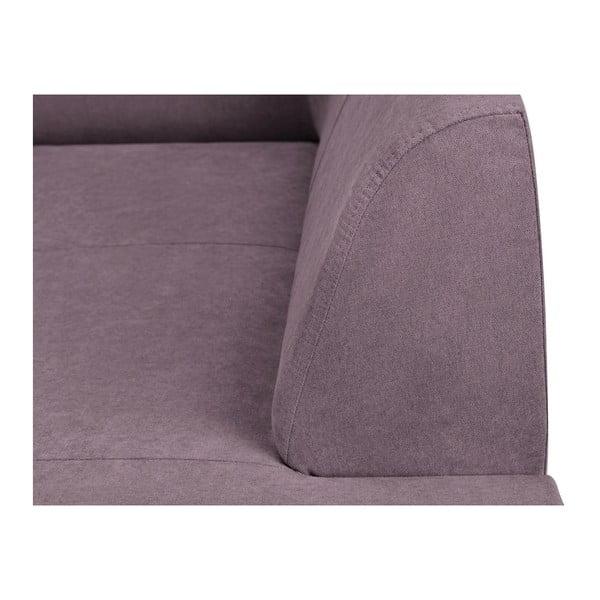 Fialová rohová rozkládací pohovka s úložným prostorem Kooko Home XL Right Corner Sofa Piano